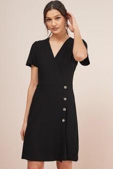 Wrap Button Dress