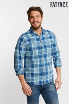 FatFace Blue Rye Check Shirt