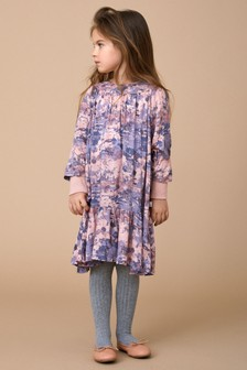 Wheat Pink Mary Poppins Print Dress