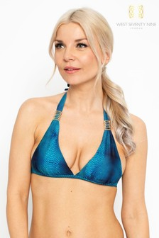 West Seventy Nine Ariel Daydreamer Halter Bikini Top