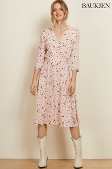 Baukjen Blush Petal Print Adele Wrap Dress