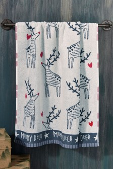 Matching Family Mummy Deer Towel