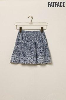 FatFace Blue Mix & Match Print Skirt