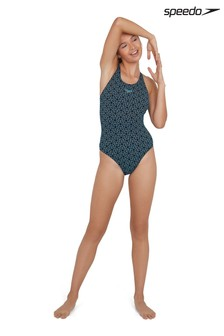 Speedo Blue Boomstar Allover Muscleback Swimsuit
