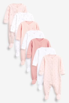 7 Pack Sleepsuits (0-2yrs)