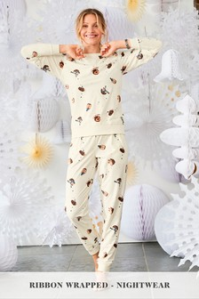Supersoft Cosy Pyjamas With Ribbon Wrapping