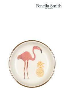 Fenella Smith Flamingo And Pineapple Ring Plate