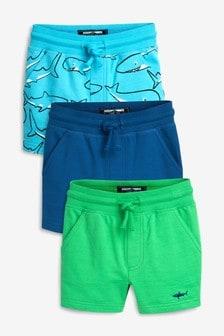 Shark Shorts Three Pack (3mths-7yrs)