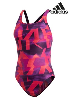 adidas Purple/Pink Printed Swimsuit