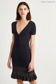French Connection Black Frill Bottom Dress