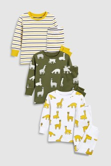 Llama Snuggle Fit Pyjamas Three Pack (9mths-8yrs)