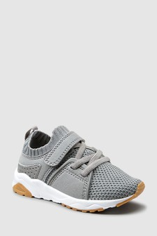 Elastic Lace Knitted Trainers (Younger)