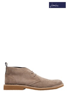 Joules Grey Lynton Lace-Up Suede Boot
