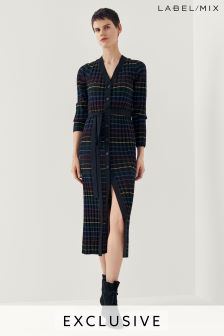Mix/Madeleine Thompson Stripe Longline Cardigan