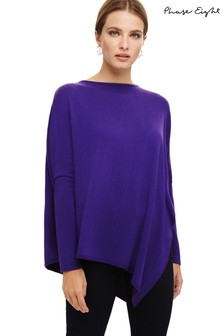 Phase Eight Purple Melinda Asymmetric Knitted Jumper