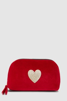 Velvet Glitter Cosmetic Bag