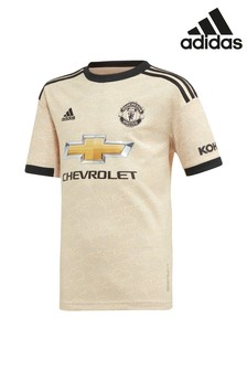 adidas Youth Cream Manchester United Football Club 2019/2020 Away Jersey