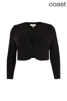 Coast Black Tess Crop Jacket