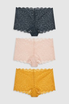 Lace Shorts Three Pack