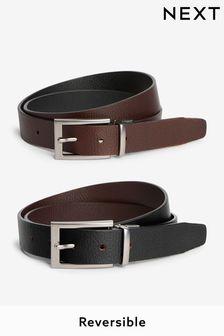 Reversible Leather Grain Belt