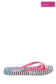 Joules Pink Printed Flip Flop