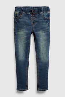 Jersey Look Denim Pull-On Jeans (3-16yrs)