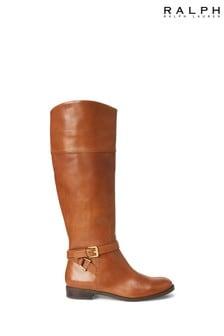 Ralph Lauren Tan Leather Riding Boots