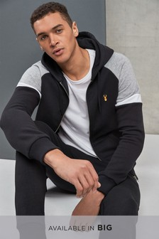 Colourblock Zip Through Hoody