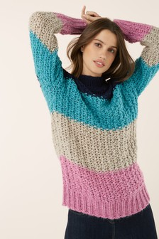 Stitchy Funnel Neck Sweater