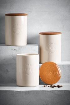Set of 3 Digestive Storage Jars
