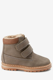 Double Strap Leather Work Boots (Younger)