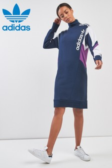 adidas Originals 90s Block Navy Sweat Dress