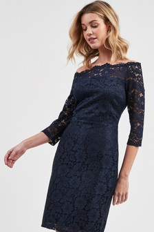 Lace Bodycon Bardot Dress