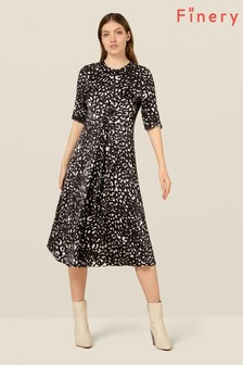 Finery London Multi Rachel Satin Animal Print Dress