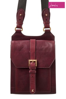 Joules Brown Stratford Leather Cross Body Bag