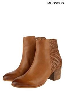 Monsoon Tan Wanda Weave Boot