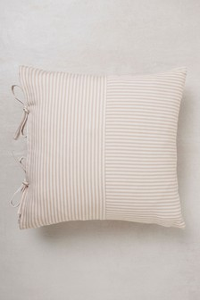 Tie Side Ticking Stripe Cushion