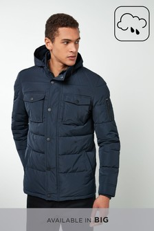 Quilted Funnel Jacket