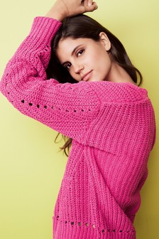 Chenille Rib Sweater