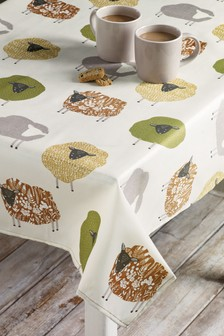 Wipe Clean Sheep Tablecloth