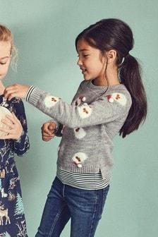 Christmas Santa Sweater (3-16yrs)