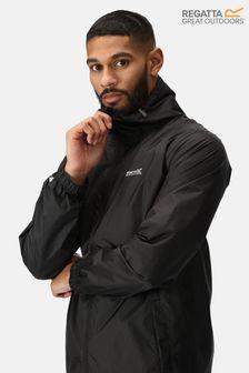 Regatta Black Pack It Waterproof Jacket