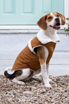Faux Shearling Dog Coat