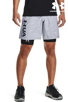 Under Armour Grey Woven Embossed Shorts
