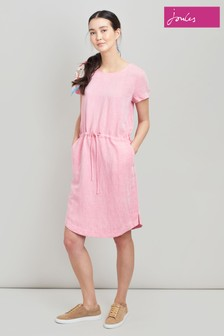 Joules Kiera Waisted Cap Sleeve Dress