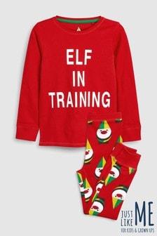 Older Kids Elf In Training Pyjamas (3-16yrs)
