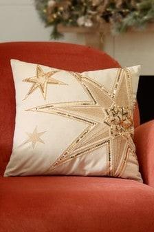Beaded Star Cushion