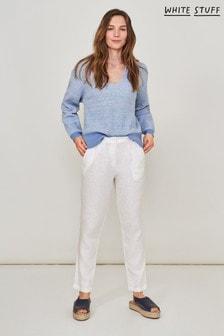 White Stuff White Maddie Linen Trousers