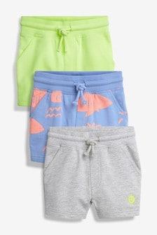 Fluro Sun Shorts Three Pack (3mths-7yrs)