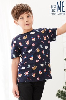 Older Kids Christmas Print T-Shirt (3-16yrs)